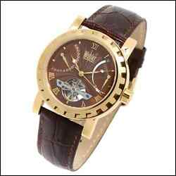 Wohler Marx Mens 38j Automatic Mechanical Watch New Free Usa S-h Brown Gold Tone