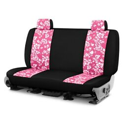 For Ford Courier 72-82 Hawaiian 1st Row Pink W Black Custom Seat Cover