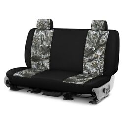 For Ford Courier 72-82 Camo 1st Row Winter W Black Custom Seat Covers