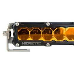 6 Series 10 60w Flood Beam Amber Amber Light Bar W Raw Inner Bezel