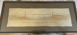 Golden Gate Bridge By John A. Roebling Civil Engineer Architecture Drawing 41x18