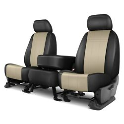 For Ford F-150 15-19 Forma Series 1st Row Black And Sandstone Custom Seat Covers