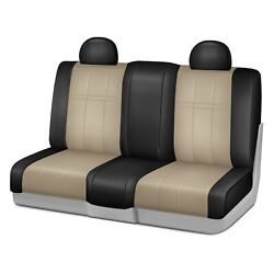 For Ford F-150 11 Forma Series 2nd Row Black And Sandstone Custom Seat Covers