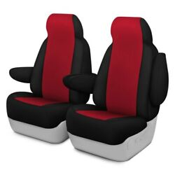 For Ford Courier 72-82 Genuine Neoprene 1st Row Red W Black Custom Seat Covers