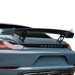 For Porsche 718 Cayman 17-20 D2s Gt4 Style Tall Rear Wing Unpainted