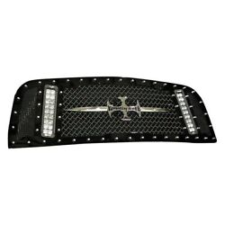 For Ford F-150 13-14 Main Grille 1-pc Rcx Explosive Dual Led Design Custom
