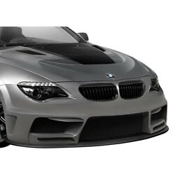 For Bmw 650i 06-10 Af-2 Style Fiberglass Wide Body Front Bumper Cover Unpainted