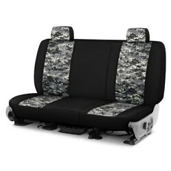 For Chevy El Camino 81-87 Camo™ 1st Row Digital Charcoal With Black Custom Seat