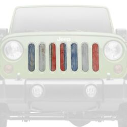 For Jeep Grand Cherokee 98-04 Main Grille 1-pc Patriotic Pickets Style