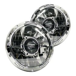 For Ford Bronco 1966-1977 Race Sport Rsll7hl 7 Round Ll Series Led Headlights