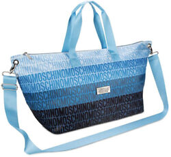 Moschino fragrances blue black bag shopper duffle handbag shoulder logo bag New $39.96