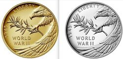 New End Of World War Ii 75th Anniversary 24-karat Gold Coin And Silver Medal Set