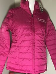 NWT Womens FITTED Small GEORGIA COLLEGE Bobcats PINK PUFFER JACKET Free Ship
