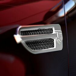 For Cadillac Escalade 07-13 Lexani Zurich Style Chrome Mesh Side Vent Grilles