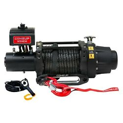 16500 Lbs Seal Gen2 16.5s Electric Winch W Roller Fairlead And Synthetic Rope