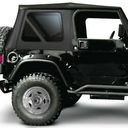 For Jeep Wrangler 1997-2006 Rampage 68735 Black Diamond Complete Soft Top