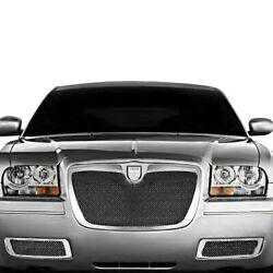 For Chrysler 300 05-10 Grille Kit Lexani 3-pc Classic Style Black Mesh Grille