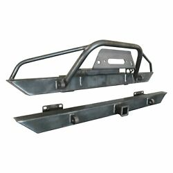 For Jeep Scrambler 81-85 Bumper Affordable Series Full Width Raw Front Winch Hd