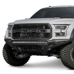 For Ford F-150 17-20 Stealth Fighter Full Width Hammer Black Front Hd Bumper