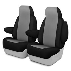 For Ford Courier 72-82 Genuine Neoprene 1st Row Gray W Black Custom Seat Covers