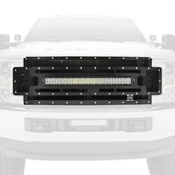 For Ford F-250 Super Duty 17-19 Main Grille 1-pc Torch Series Black Formed Woven