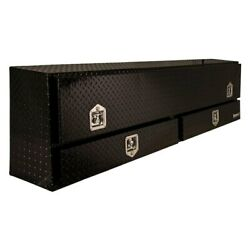 Contractor Single Door Top Mount Tool Box W Two Bottom Drawers And T-handle Latch