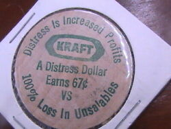 Wooden Nickel Kraft Distress Dollar Is Increased Profits Save Two-thirds
