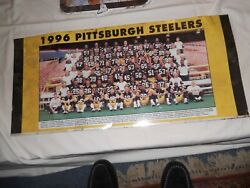 1996 Pittsburgh Steelers Tin Sign Vintage Large Heavy
