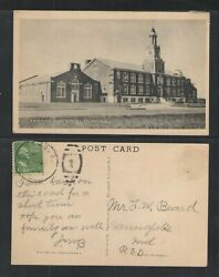 1949 Freehold High School Freehold Nj Postcard { Coliotype }