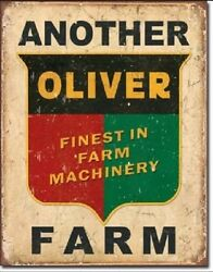 Another Oliver Farm Farming Equipment Logo Distressed Metal Tin Sign 1775