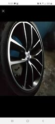 2015-19 Charger Challenger 20x9 Scat Pack Black Wheels Tires Rims Factory Oem