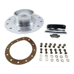 Billet Aluminum 62mm Fuel Cell  Flush Mount With 6 Hole Anodized 12 Bolts