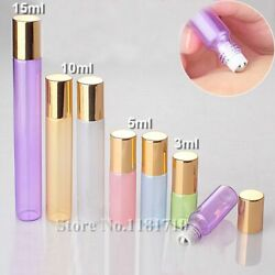 Glass Roll On Bottles Empty Container For Perfume Essential Oils 20pcs/lot Cases