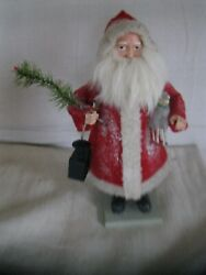 Repro 13 Santa Claus Belsnickle Antique German Style W/ Real Feather Tree