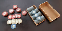 Vintage Saratoga Lake House Casino Chips Meadowbrook And Piping Rock Clubs Lot