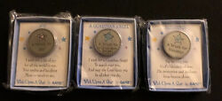 Wish Upon A Star Coins Joy, Guardian Angel, Blessings Lot Of 3 - Ganz
