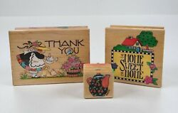 Rubber Stamps Mary Engelbreit Me Ink Home Sweet Home Thank You Teapot