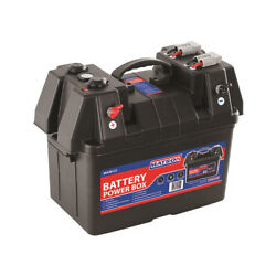 Matson Battery Box With Power Sockets, Volt Meter, Anderson Plug Outlets