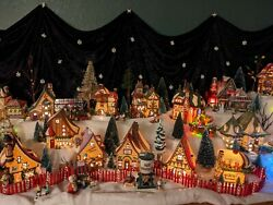Dept 56 North Pole Village Lot - 47 Houses + Accessories, Trees, And More