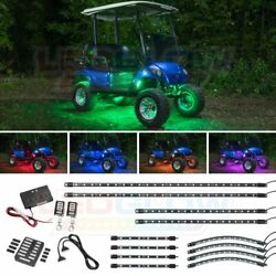 Ledglow Million Color Led Golf Cart Underglow Kit W Wheel Well And Interior Lights