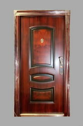 Steel Entrance Front Door With Welded Frame With Trims And Multipoint Lock 36