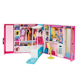 Barbie Dream Closet with 30 Pieces Toy Closet Features 10 Storage Areas 5 3