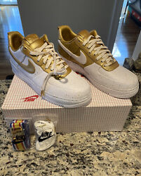"""Nike Air Force 1 Low Supreme I/0 Tz """"gold Medal"""" 516630-170 New Size 12 Rare"""