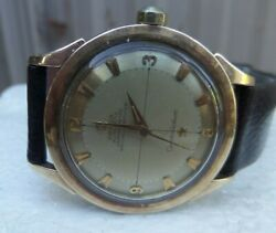 Vintage Antique Old 18k And Steel Omega 2652-8 Sc Constellation Automatic Watch
