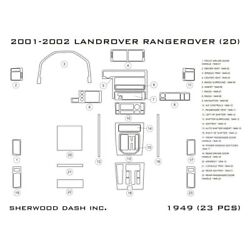 For Land Rover Range Rover 01-02 2d Glossy Silver Standard Dash Kit 23 Pcs