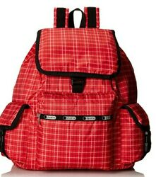 Lesportsac Voyager Backpack Tattersall Red Bag Nylon $54.00