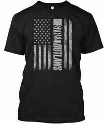 New Street Outlaws Flag American Stree Gildan Cotton T-shirt Size S To 3xl