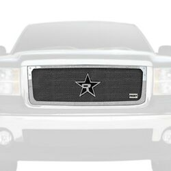 For Gmc Sierra 1500 07-13 Main Grille 1-pc Rx-5 Halo Series Chrome Dual Weave