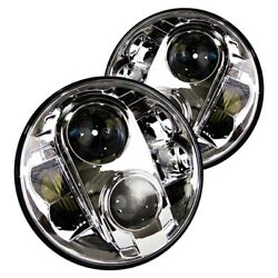 For Ford Bronco 1966-1977 Race Sport 7 Round Chrome Projector Led Headlight