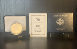 2012-w Proof 1 American Silver Eagle Dollar Ogp/coa-first Day Issue